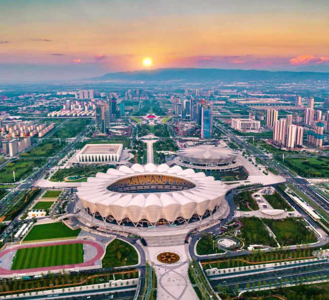 第十四届全国运动会开幕 中建八二助力体育强国建设