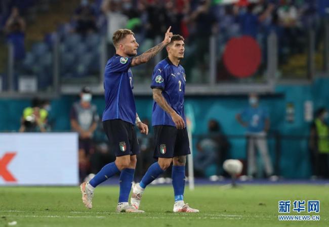 欧锦赛小组赛:意大利战胜瑞士