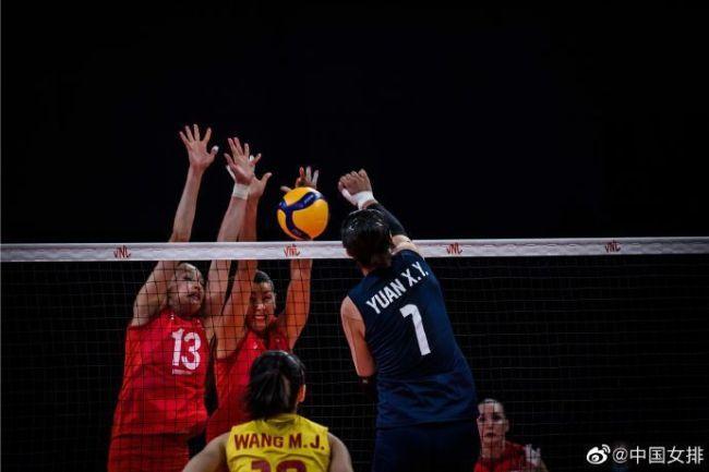 中国女排3-0俄罗斯 世联赛勇夺五连胜