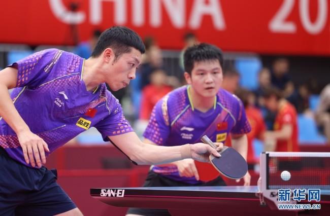 国乒热身赛男子团体赛收官