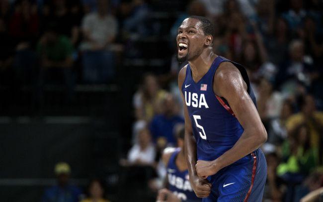 美国男篮公布奥运12人大名单,杜兰特领衔