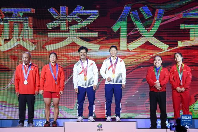 全运会举重女子64公斤级决赛:广东曾田甜夺冠