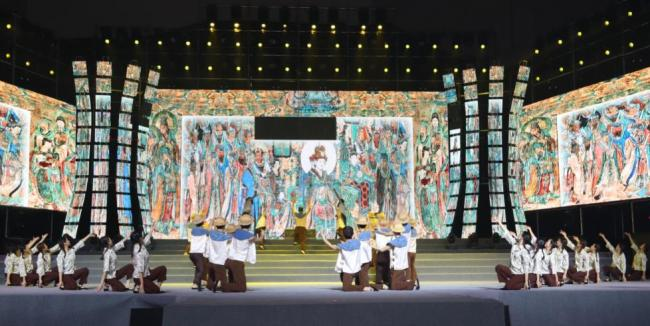 诗情画意 山西(芮城)永乐宫第十届书画艺术节开幕