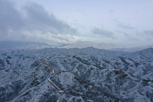 雪后金山岭长城那别样风光