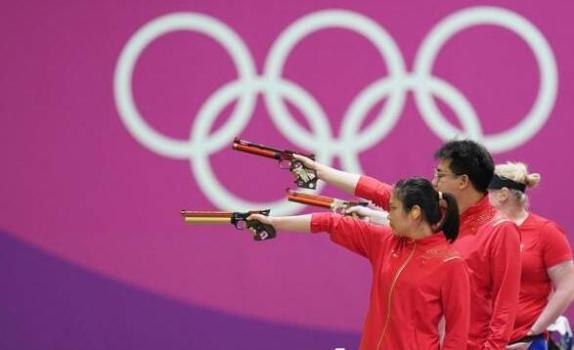 第七金!姜冉馨庞伟夺10米气手枪混团金牌