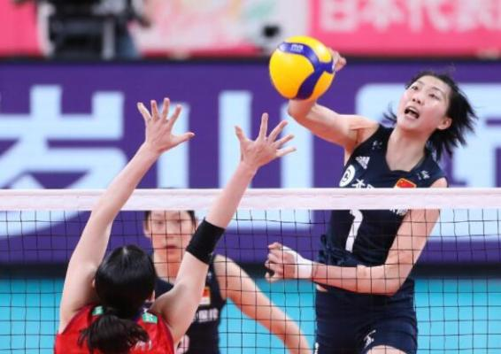 中國女排連贏三局戰勝日本女排