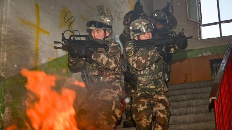 武警新疆总队某支队全面掀起节后练兵热潮