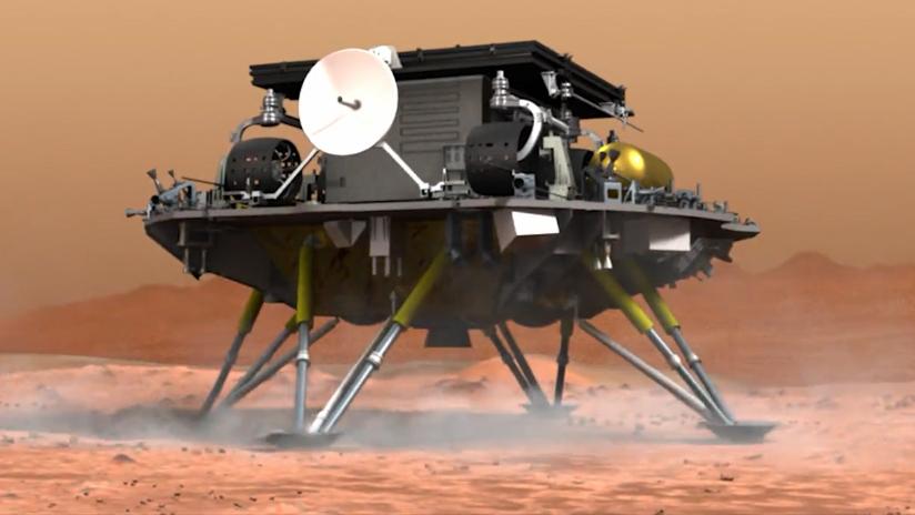 中国首次火星探测任务着陆火星取得圆满成功