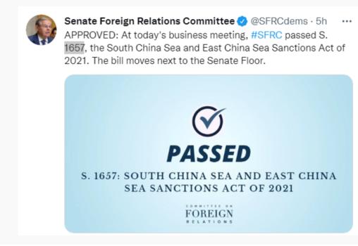"""为博眼球疯狂挑衅!美议员推""""南海东海制裁""""恶法"""