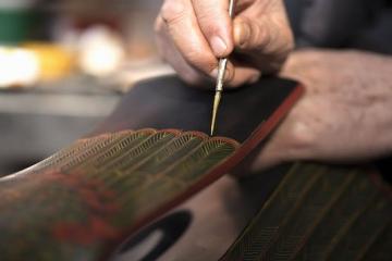 与古人对话,楚式漆艺中探索的琴瑟和鸣