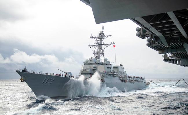 美国海军演习假想与中国舰队决战